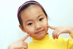 中国女孩一点 免版税库存图片