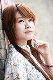 中国女孩纵向 免版税库存照片