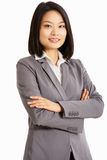 中国女实业家工作室纵向  免版税库存照片