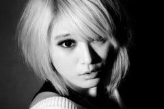 中国好奇女孩 图库摄影