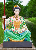 中国妇女的雕塑 免版税库存照片