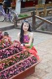 中国妇女的画象 免版税库存照片