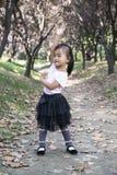 中国妇女跳舞在森林02 免版税库存图片