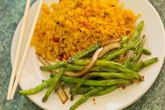 中国嫩煎的菜豆 库存照片