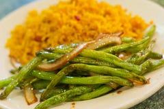 中国嫩煎的菜豆 免版税库存图片