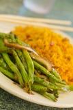 中国嫩煎的菜豆 免版税图库摄影