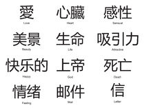 中国字 库存例证