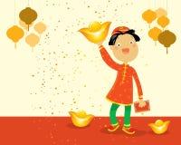 中国孩子新年度 皇族释放例证
