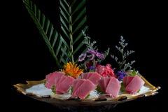 中国官员食物三文鱼生鱼片 库存图片