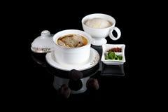 中国官员食物肉菜饭 库存图片
