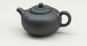 中国宜兴紫色沙子茶壶 库存图片