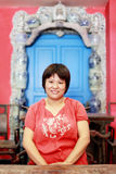 中国室内妇女 免版税图库摄影