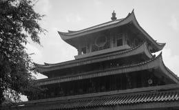 中国寺庙上面  库存图片