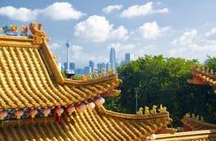 中国寺庙吉隆坡的细节 免版税库存图片