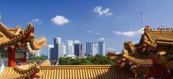 中国寺庙吉隆坡的细节 免版税库存照片
