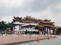 中国寺庙吉隆坡MalaysiaFront视图 免版税库存照片