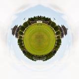 中国寺庙圈子全景。 免版税库存照片