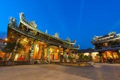 中国寺庙在台北,台湾 库存图片