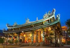 中国寺庙在台北,台湾 库存照片