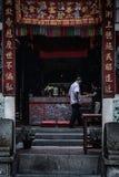 中国寺庙在大山脚 免版税库存图片