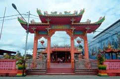 中国寺庙在Siak,印度尼西亚 免版税库存照片