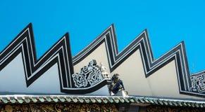中国寺庙屋顶 图库摄影