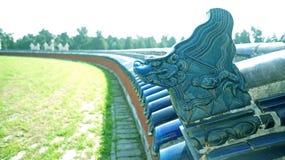 中国寺庙屋顶  免版税图库摄影