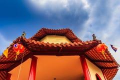 中国寺庙屋顶 免版税库存照片