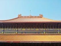 中国寺庙屋顶 免版税库存图片