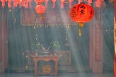 中国寺庙灯笼 库存照片