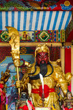 中国寺庙的关羽 免版税库存图片