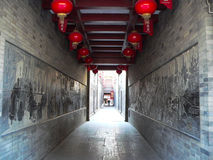 中国寺庙走廊 库存图片