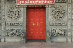 中国寺庙门,乔治市,槟榔岛,马来西亚 免版税图库摄影
