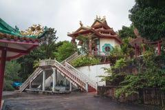 中国寺庙,酸值Phangan海岛,泰国 免版税库存图片