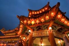中国寺庙thean hou锣,吉隆坡,马来西亚 免版税图库摄影