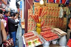 中国小吃店 库存图片