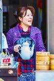 中国小圆面包商店在长崎唐人街 免版税库存照片
