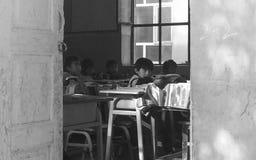 中国小学学生,新疆省 图库摄影