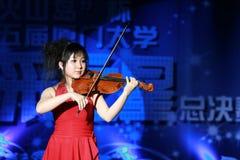 中国小提琴手 免版税库存图片