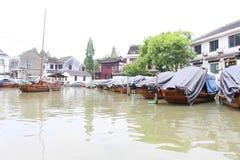 中国小船威尼斯  库存照片