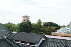 中国屋顶在泰国 免版税库存照片