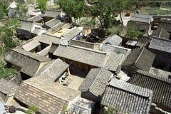 中国屋顶城镇 库存图片