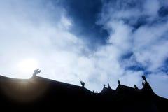 中国屋顶寺庙 库存照片