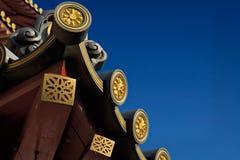 中国屋顶寺庙 免版税库存图片