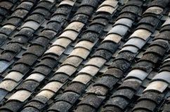 中国屋顶样式瓦片 免版税库存图片