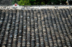 中国屋顶样式瓦片 库存图片