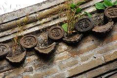 中国屋顶结构 库存照片