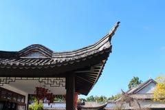 中国屋顶 库存图片