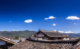 中国屋顶 库存照片