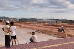 中国工作者年轻人 免版税库存图片
